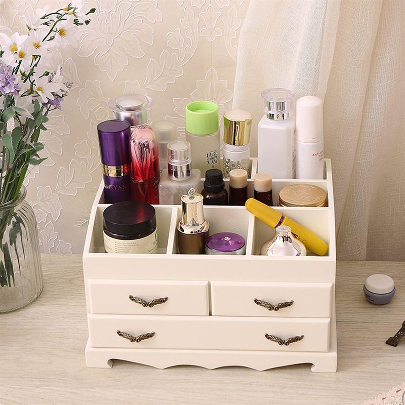 �W式公主木�|精品首�盒�品盒桌面梳�y盒首�箱木制化�y品收�{盒