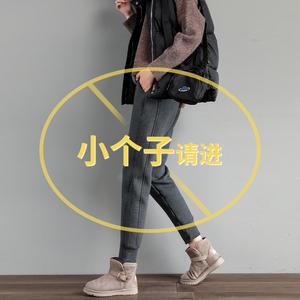 加绒加厚运动裤女秋冬季2020休闲卫裤小个子羊羔绒裤子女外穿棉裤