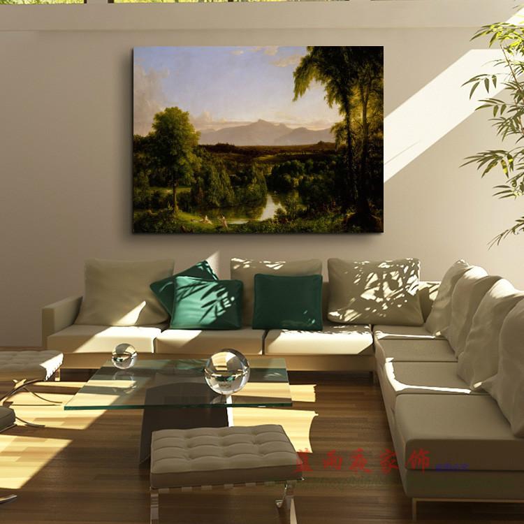 On kaitskiels landscape oil painting in early autumn