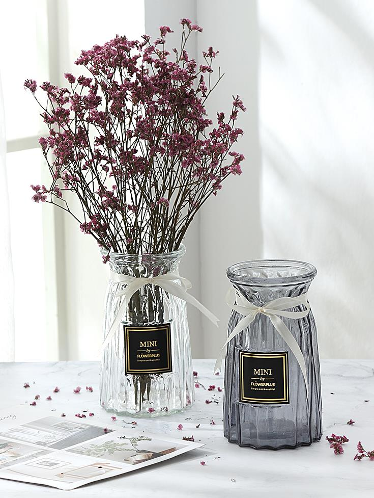 ガラス鋼の円筒形のモデルルームの花瓶の砂磨き個性的な家庭装飾花の花のプラスチックの花の花園