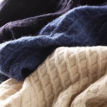 加厚羊绒材质!新型科技面料!男菱形格子圆领套头针织衫毛衣外套