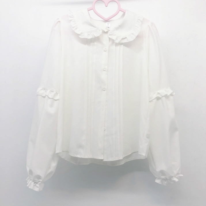 Japanese lovable Lolita Lolita long sleeve with baby collar and white shirt for women design