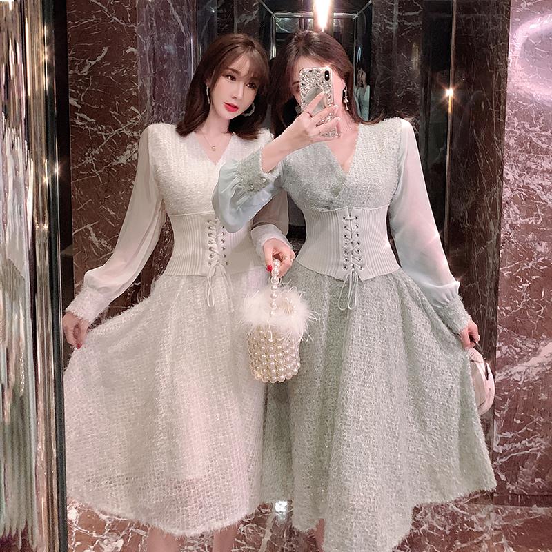 网红闺蜜款小香风女秋装新款连衣裙