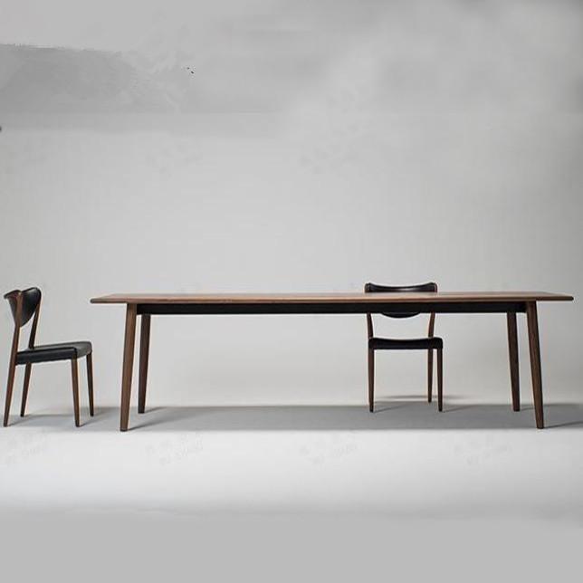 タオバオ仕入れ代行-ibuy99 桌椅 北欧实木大型会议桌简约现代会议室办公桌长桌洽谈桌椅组合工作台