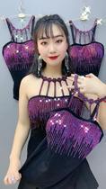 夏季韩版大码女装胖mm吊带背心打底显瘦烫钻美背160斤锁骨弹力潮
