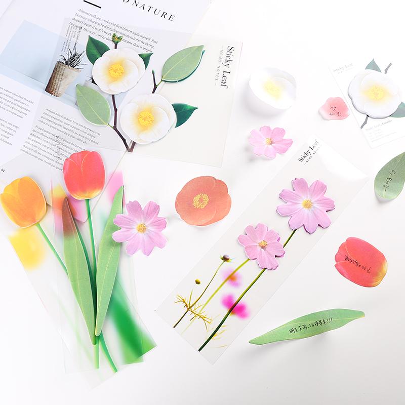 韩国文具可爱花朵造型便利贴创意可撕记事留言条N次贴纸便签本子热销91件买三送一