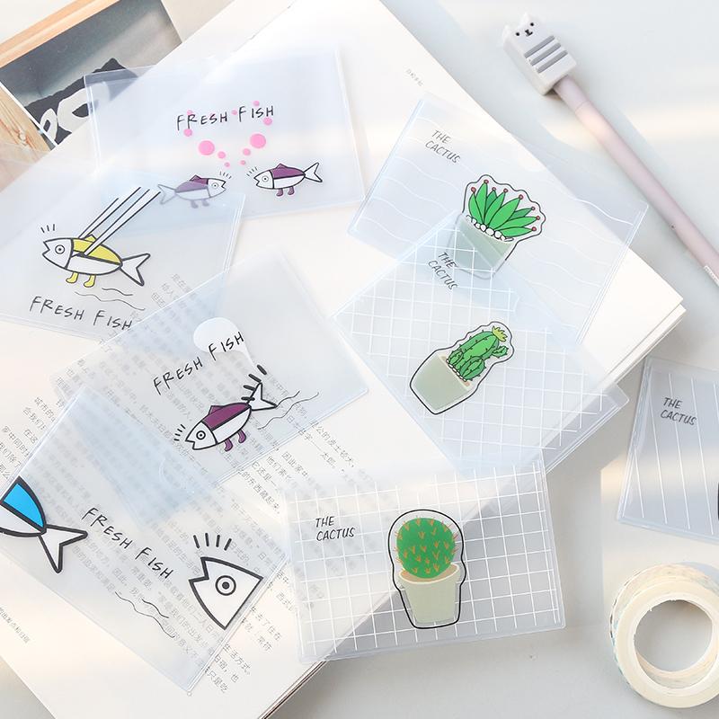 韩国可爱卡通磨砂PVC透明卡套 学生公交卡银行卡饭卡保护套证件套