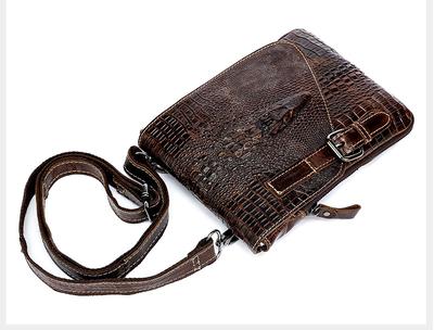 品牌低价男头层皮竖款小斜挎包真皮单肩包户外腰包手机包大容量