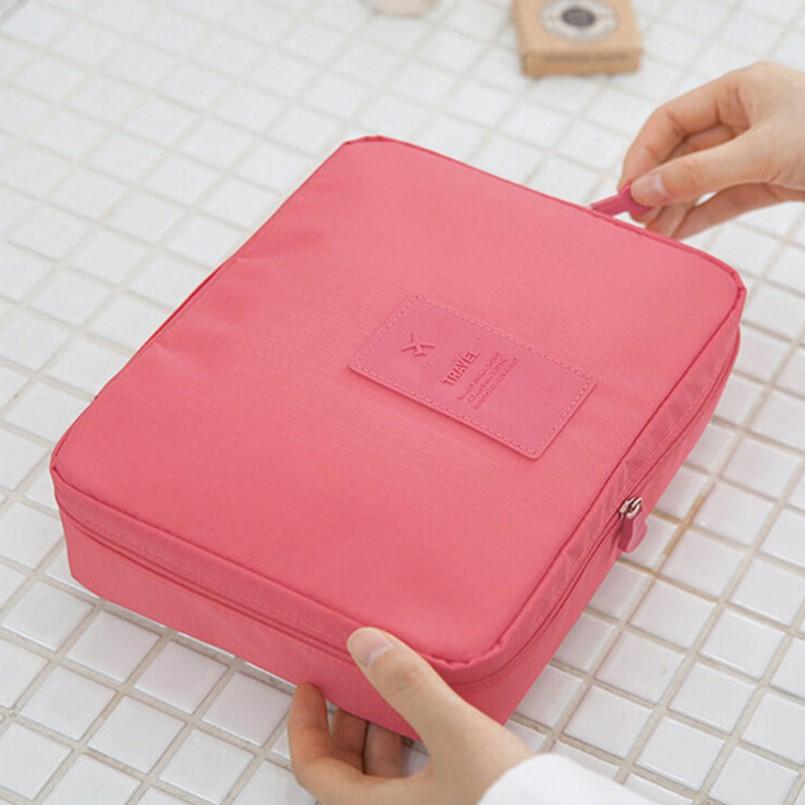 化妆包订制logo公司活动礼品广告宣传品纯色化妆袋旅行专属定制