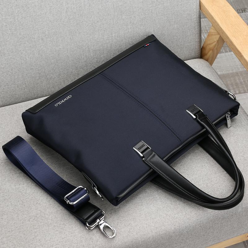 Polo new mens bag handbag mens business bag Oxford leisure File Bag Canvas briefcase mens bag