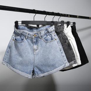 牛仔女高腰2019新款夏显瘦宽松短裤