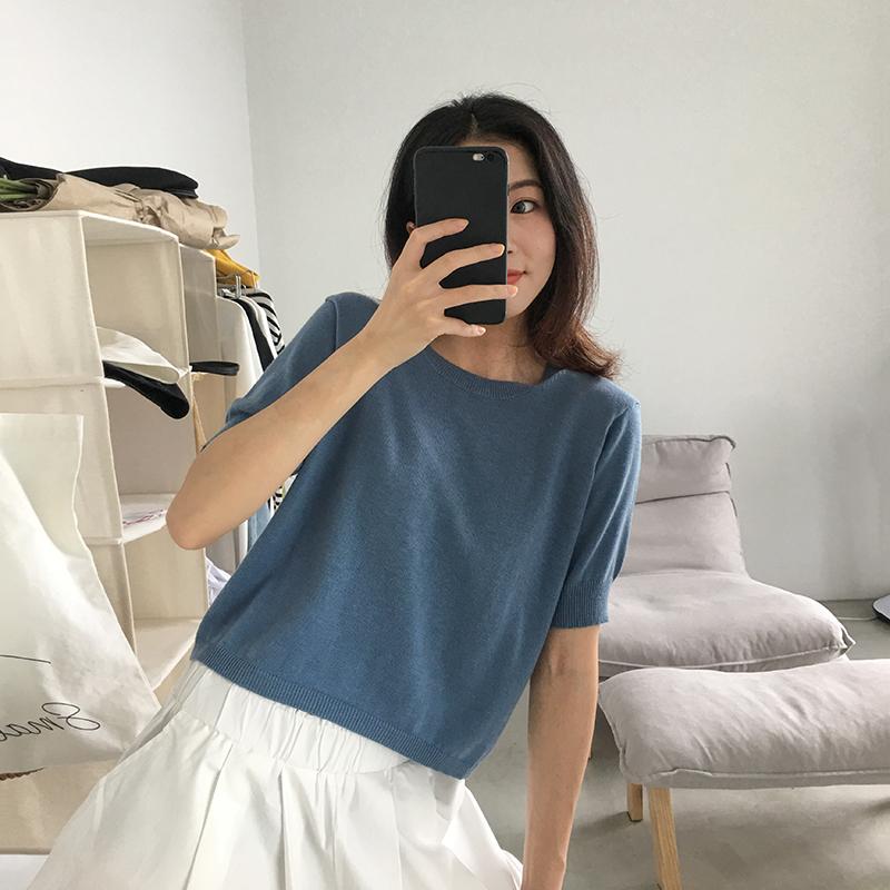 四喜家 �@白/��力��松�A�I柔���衫短袖T恤女夏�@瘦上衣打底衫