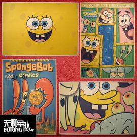 SpongeBob海绵宝宝 动漫动画牛皮纸海报装饰画酒吧照片相框墙纸