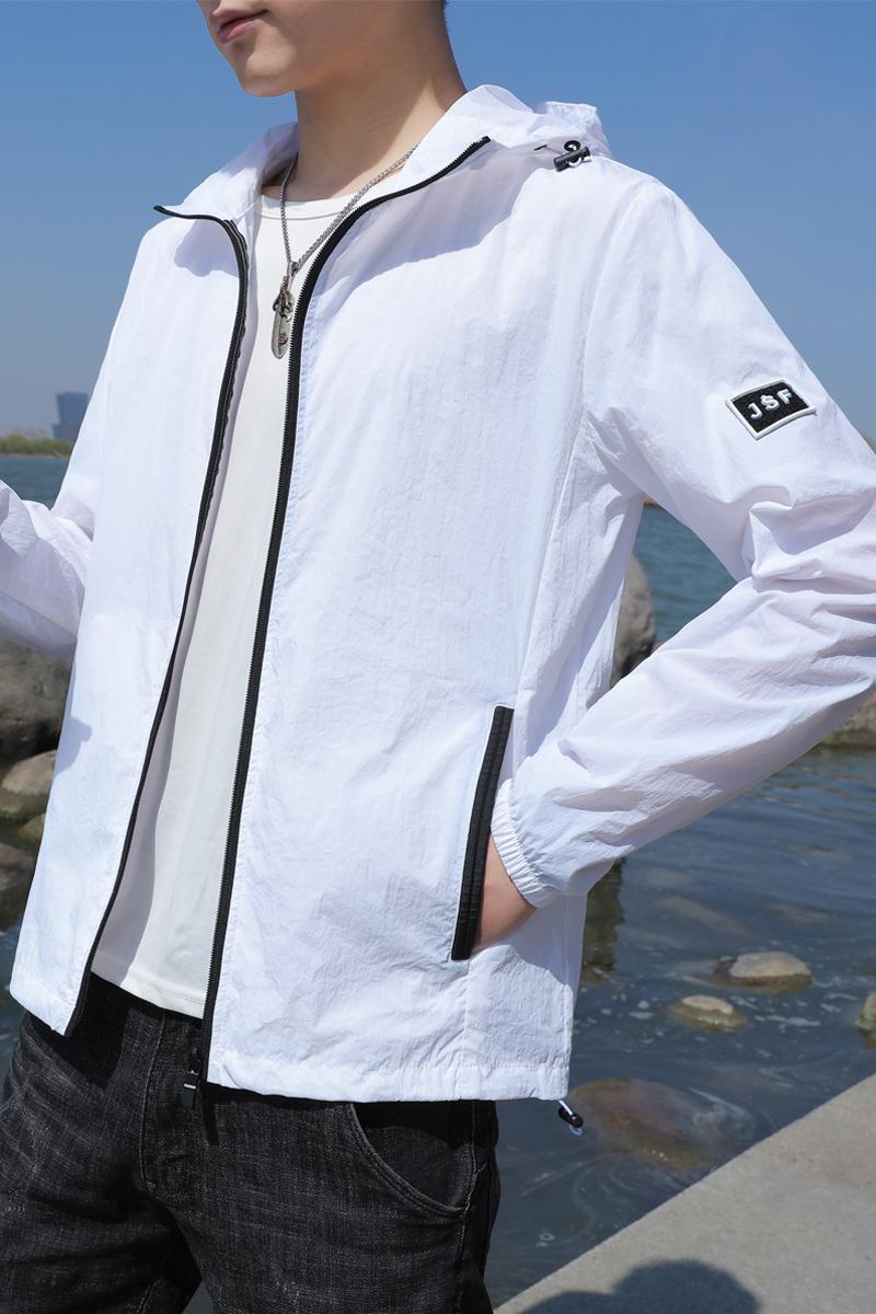 2020夏季男士流行外套潮牌百搭薄款防晒衣休闲宽松大码韩版棒球服图片