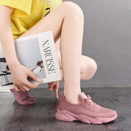 纪玫兰鞋子女夏学生韩版百搭跑步鞋网面透气运动新款轻便软底鞋