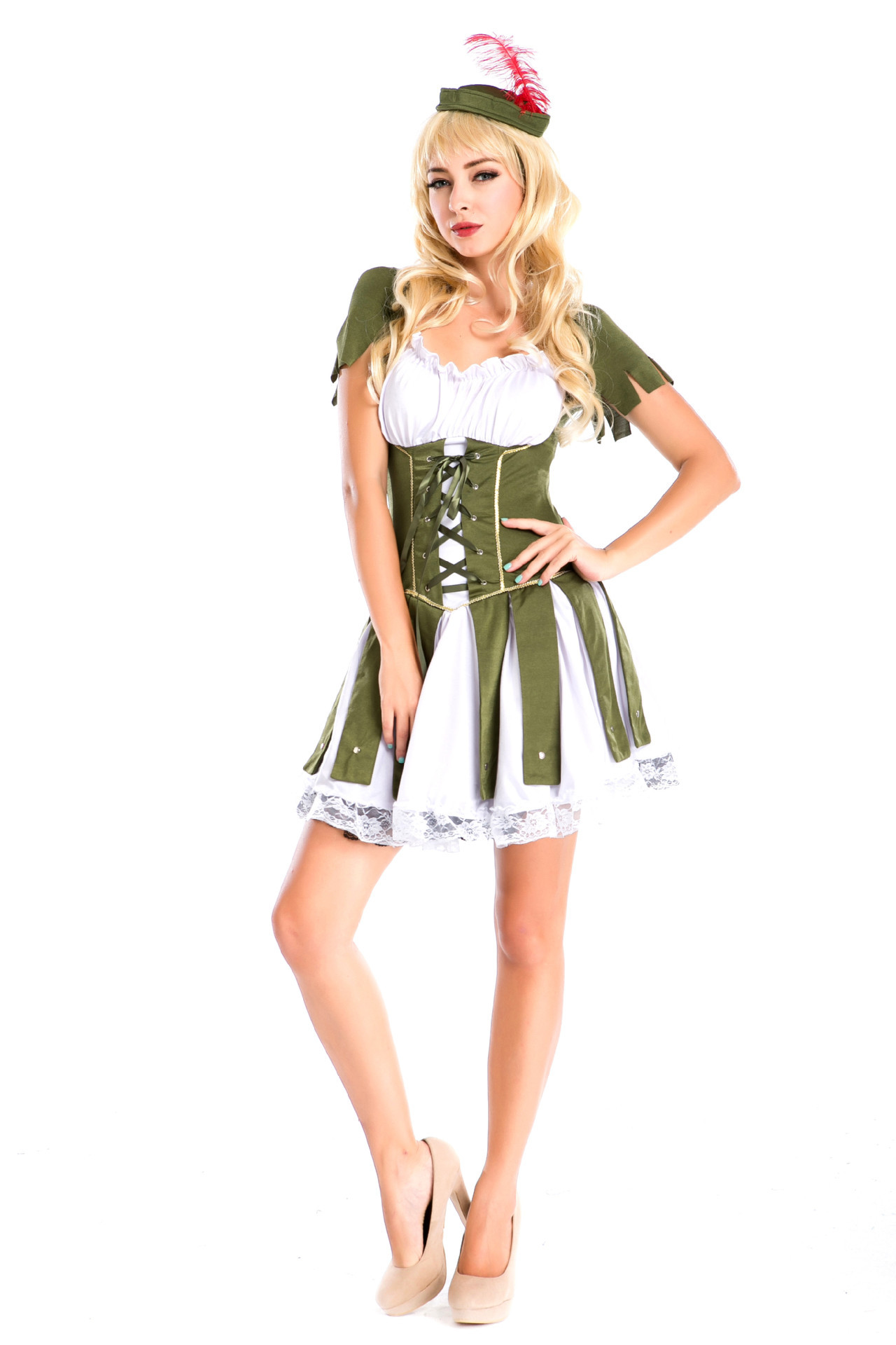 European and American game uniform Indian tribe Hunter costume role play costume for Halloween party Pirate Costume girl