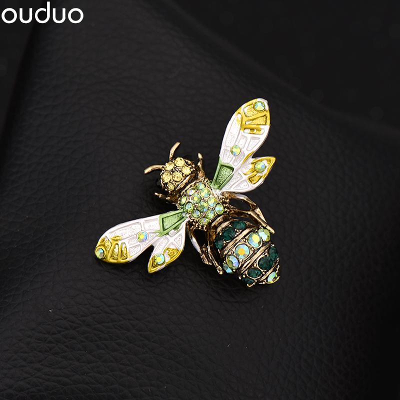韩高档蜜蜂胸针女配饰品时尚动物别针装饰西装外套胸花吊坠两用