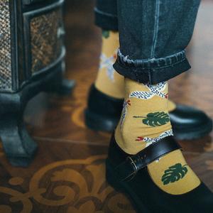 【秋思】原创 森女系棉质韩版学院风中筒女袜 英伦复古街拍潮袜