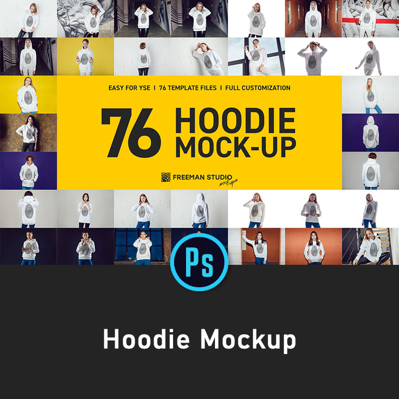Hoodie womens clothing sweater pattern design mockups prototype display smart object template l1595