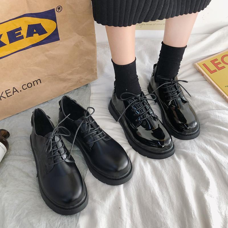 黑色漆皮英伦风2021春季新款小皮鞋怎么样