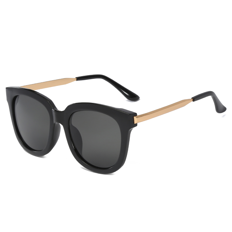 Classic Unisex trend versatile Sunglasses square metal leg shading show thin face driving in the sun