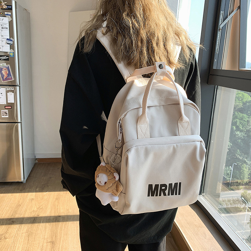Schoolbag female college students ancient sense of wind middle school backpack new junior middle school students leisure Korean high school backpack