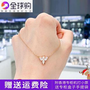 施洛華官網2019新玫瑰金色小天使女士鎖骨項鍊APMNIEP奢華洛世奇