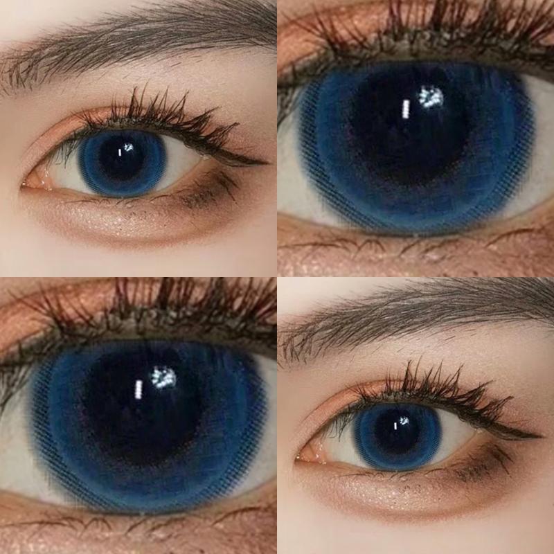 正品大牌海洋之心美瞳年抛女小直径14.5艾晶15mm蓝色日抛半年抛男图片