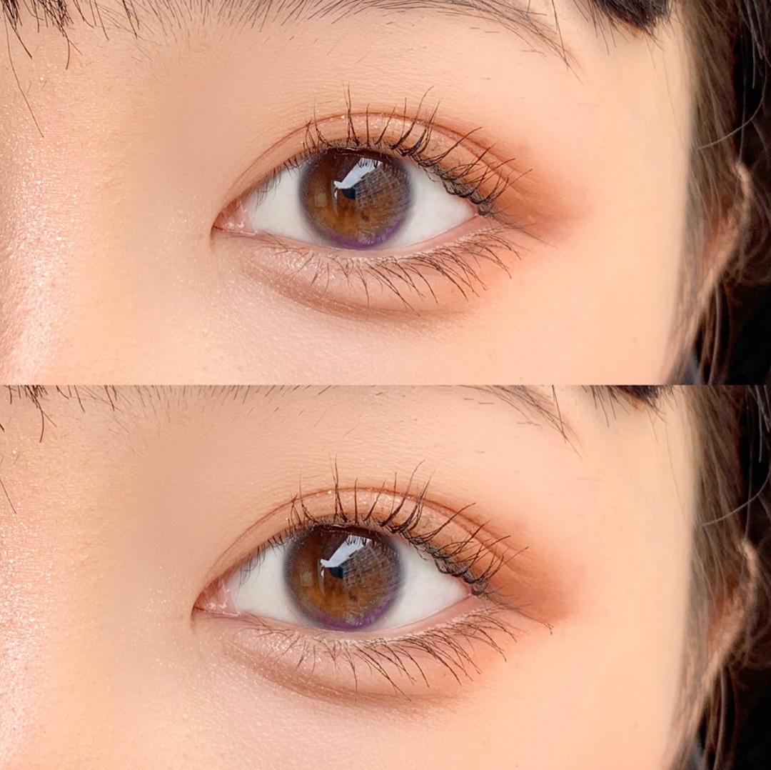 梨梨灰美瞳年抛女生大小直径自然黑色近视隐形眼镜月抛日抛润瞳