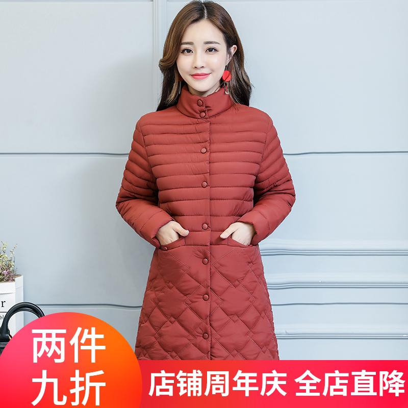 反季棉服女装2020秋冬新款韩版直筒大码修身显瘦气质中长款棉衣潮