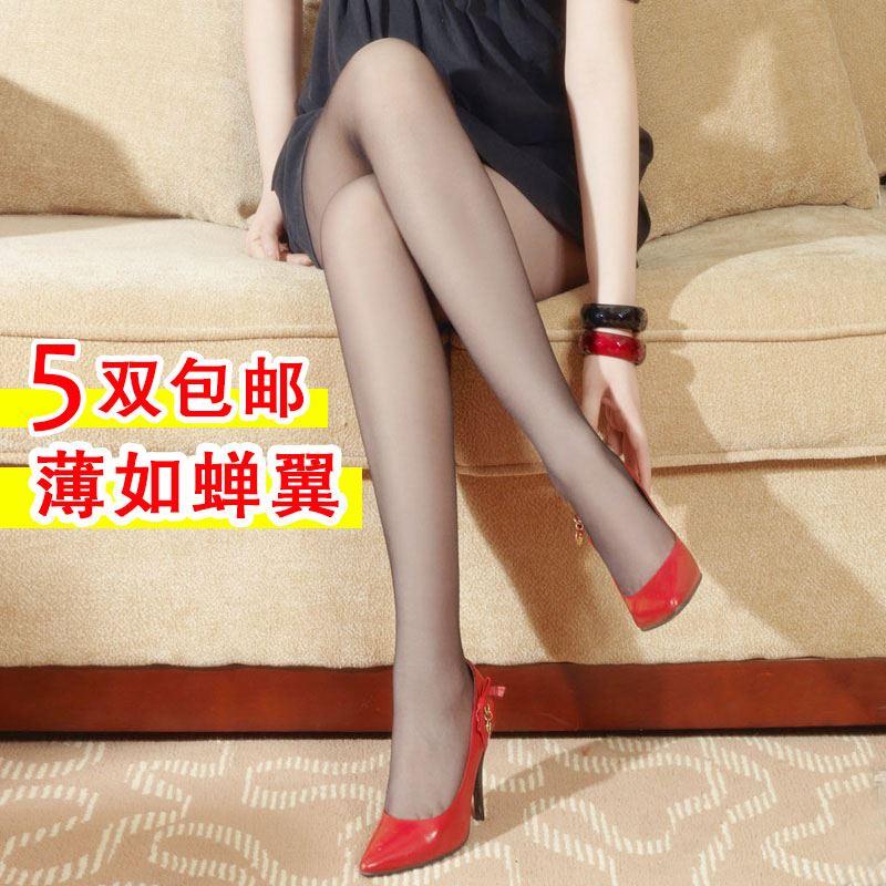 【5双包邮】3D隐形全透明薄丝袜性感无痕一线裆T裆连裤袜子女