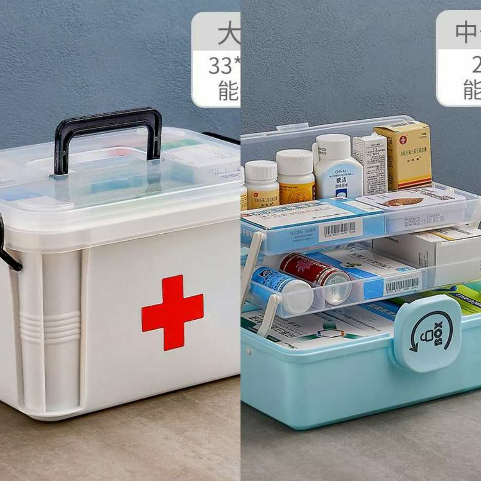 Table top compartment first aid kit storage box supplies kit family medical kit medical student medical kit medical kit