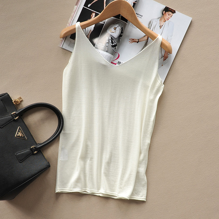 Carefully selected eyes closed super soft Merino superfine wool knitted suspender vest, comfortable and super beautiful
