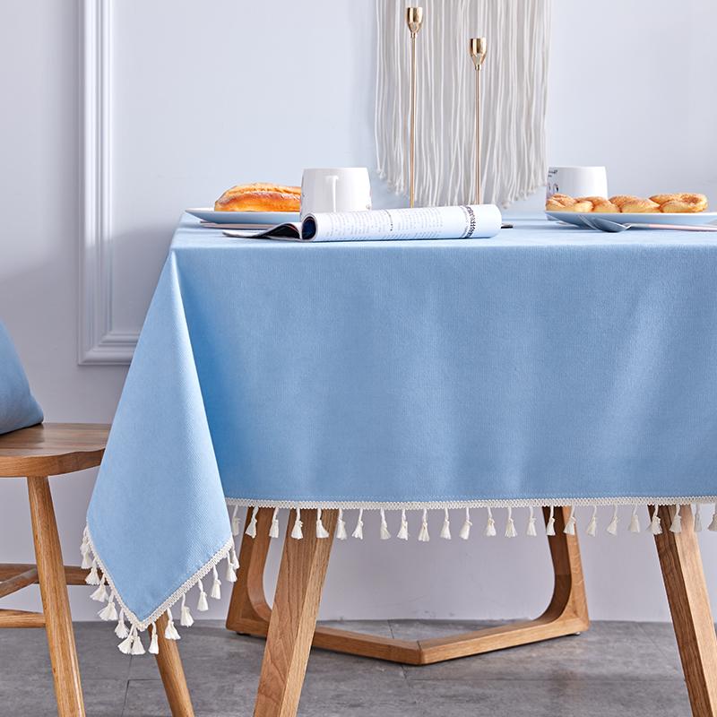 热销65件五折促销纯色桌布蓝色丝绒长方形深蓝餐桌布艺办公室会议室清新蓝浅天蓝色