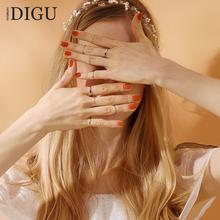 十件套装戒指女日韩潮人个性简约学生食指环饰品细关节戒小指尾戒