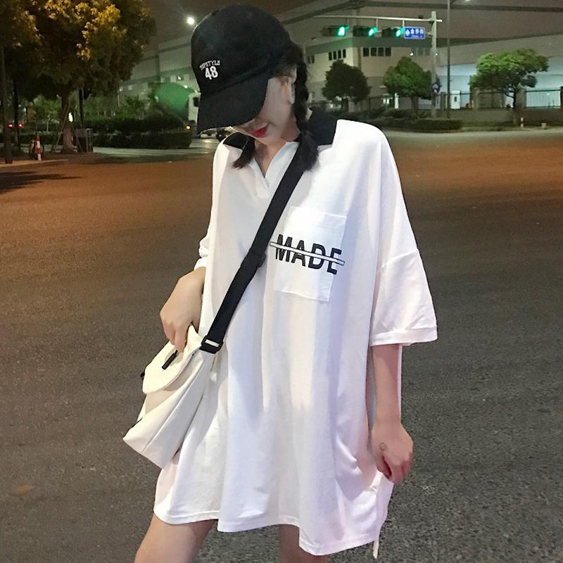 酷酷的女装夏bf宽松大t恤女bf风hiphop上衣服学生可可里小姐店铺
