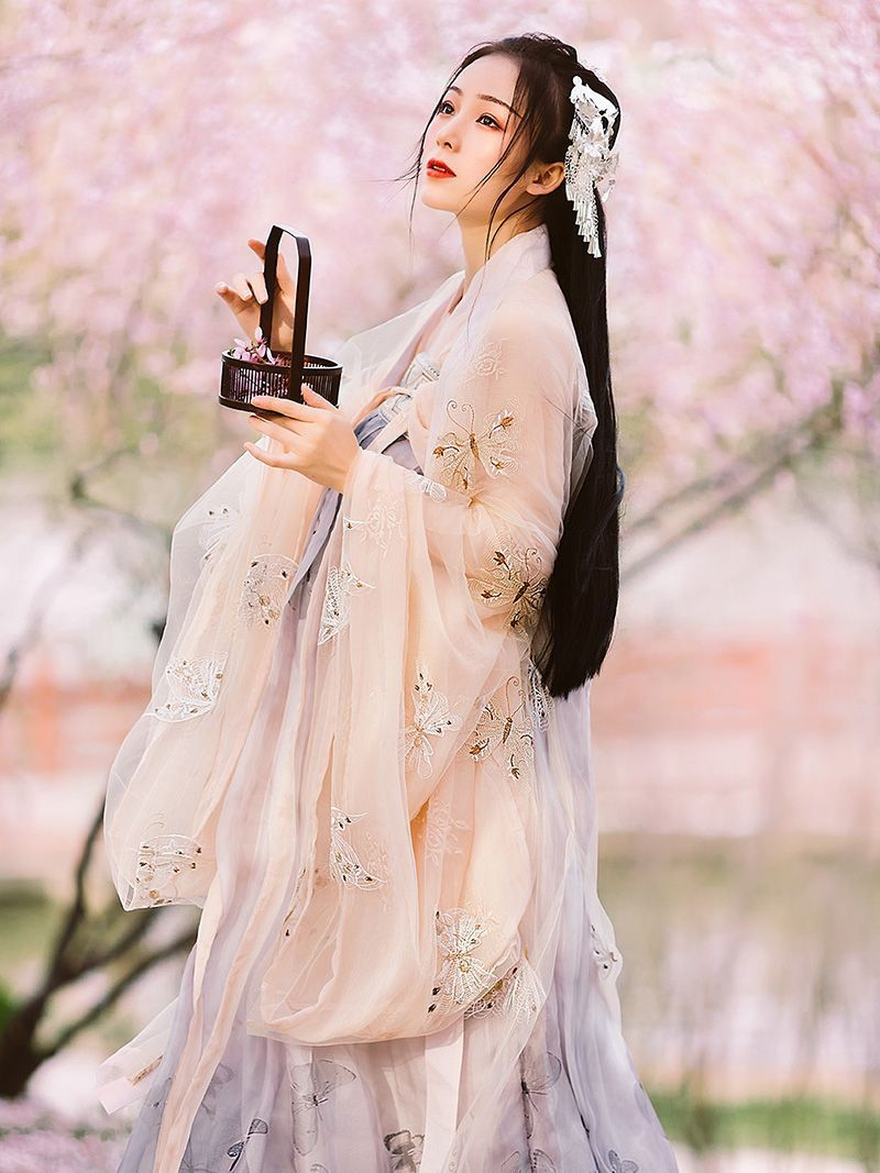 Clothing Super Fairy Hanfu Suit Summer Dress Chinese Style Children Chinese Student Chiffon Traditional Long
