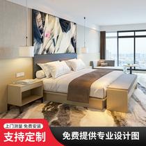 星级酒店家具标间全套床定制连锁宾馆家具床民宿酒店式公寓家具