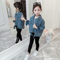 怡安踏雪女童秋季牛仔外套2020新款韩版小学生开衫儿童装秋装时髦
