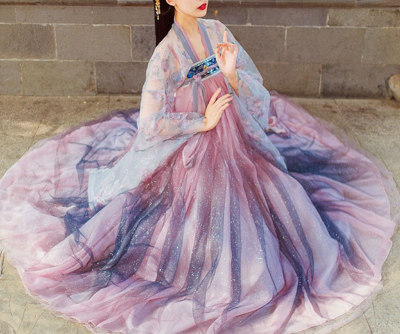 Female ethnic Hanfu suit, Chinese style embroidery, ancient style, ancient Chinese clothing, girl clothes