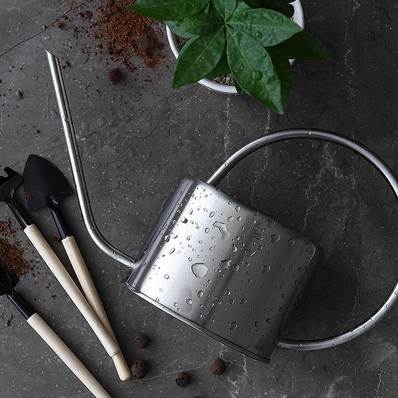 Французский нержавеющей стали хоботок посыпать чайник лить цветочный горшок головка душа завод больше мясо пролить завод лить чайник цветок сад сад искусство инструмент