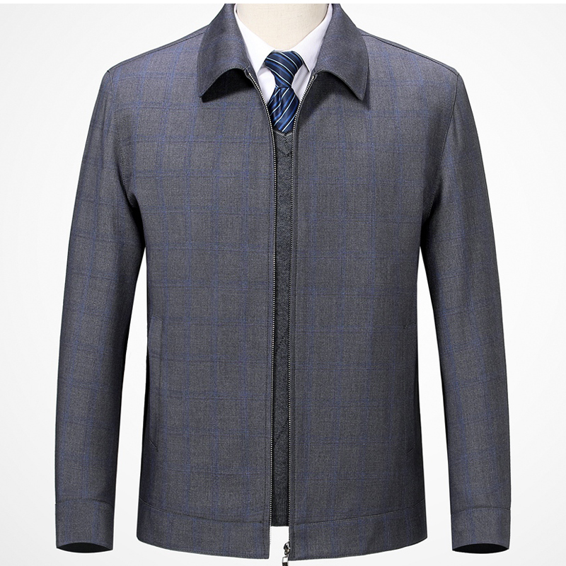 Hengyuanxiang wool jacket mens business casual Lapel fathers jacket middle-aged and old peoples spring and autumn jacket