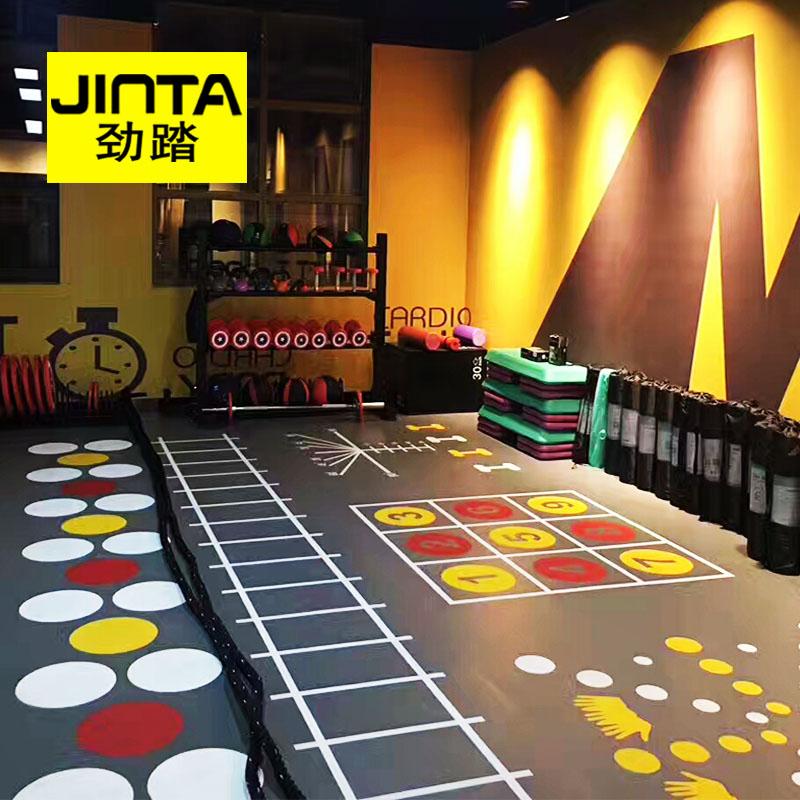 健身房地膠360私教定製logo少兒體適能地板pvc 地墊健身地膠