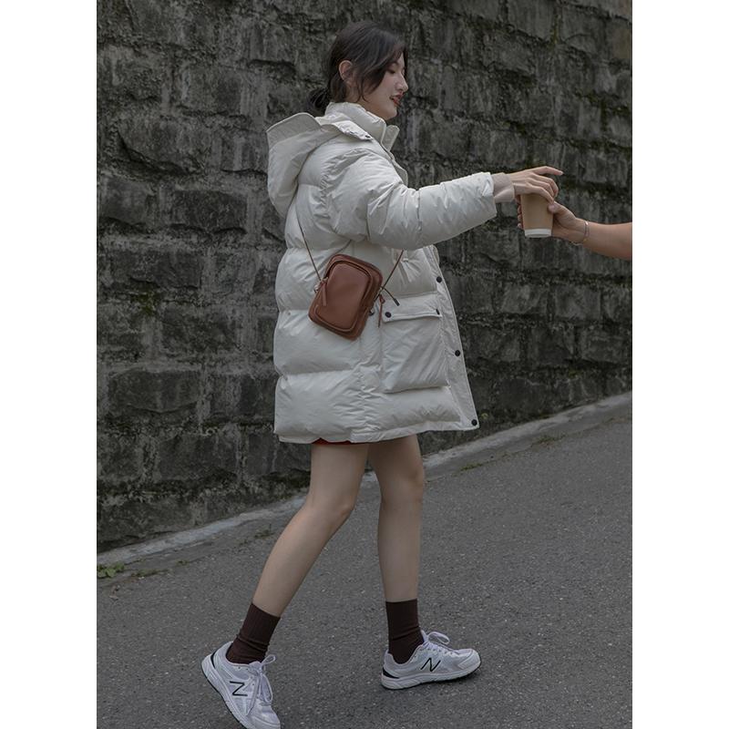你好卡农 连帽面包服棉衣女中长款2019新款韩版宽松加厚冬季外套