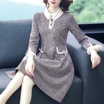 中老年女装40岁女连衣裙贵夫人女士新款妈妈裙子高贵中年春款大码