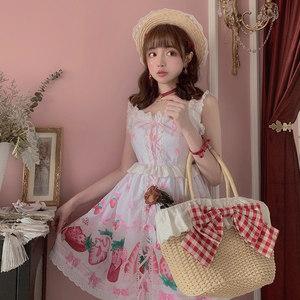 莉摩Bobon21夏天的草包 蝴蝶结红格子蕾丝花边手拿包拎包AC1767