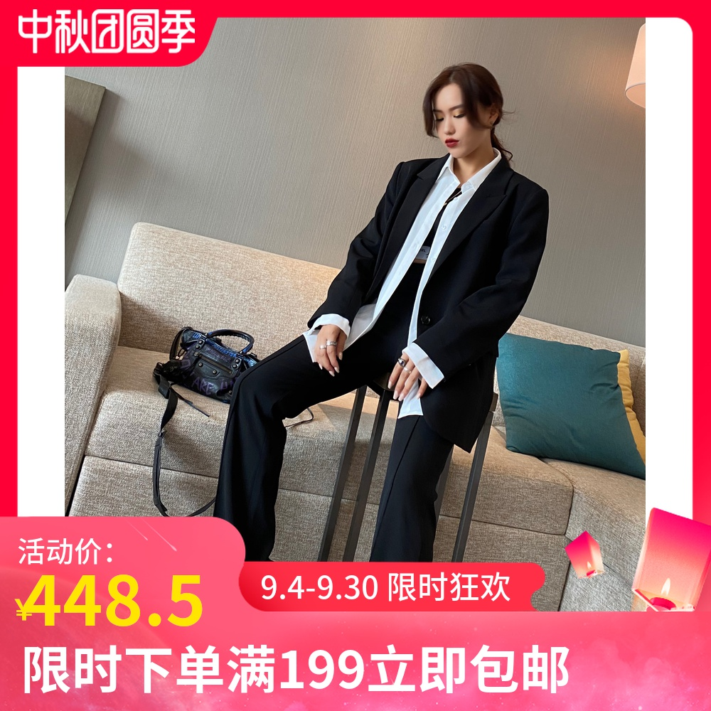 Queen Baoye original 2020 private clothes custom new suit black suit European and American large casual loose style