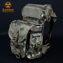 Instructor Tactical Outdoor waistband male multifunctional military fan tactical motorized waistband riding leg bag nylon waterproof bag
