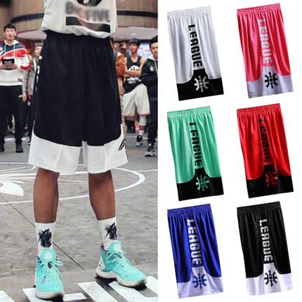 运动短裤男篮球裤街球潮速干训练跑步裤宽松过膝五分裤嘻哈球裤