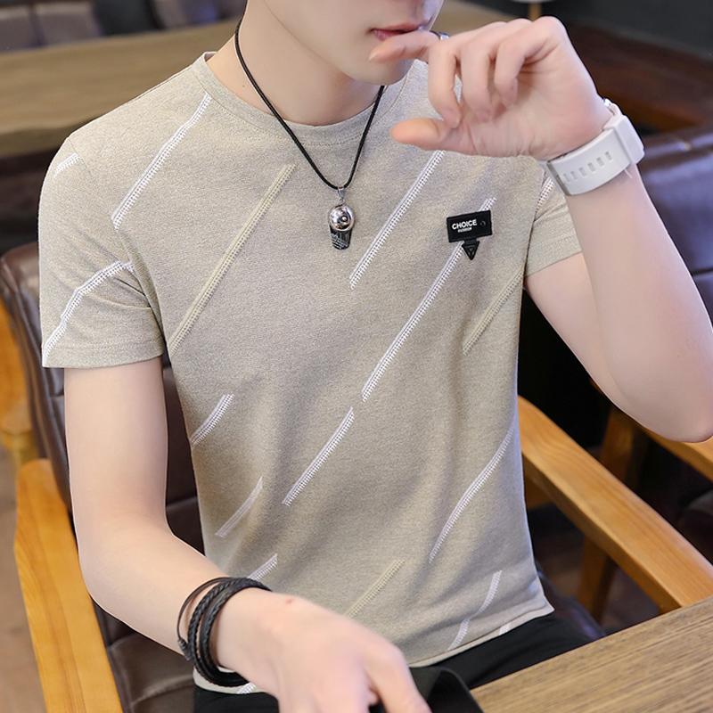 男士短袖夏季潮流体桖修身韩版t恤